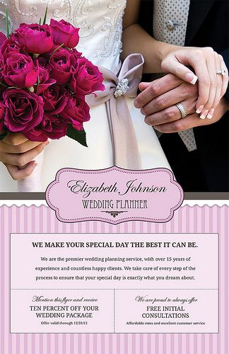 New! Customizable flyer for Wedding Planners Quality self - wedding flyer