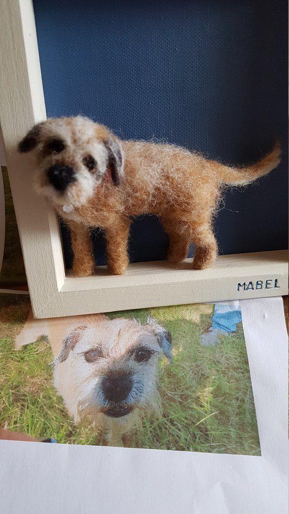 Needle felt dog portrait commission #needlefeltedcat