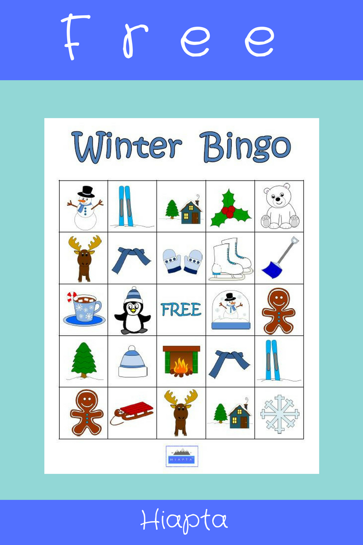 It's just a picture of Resource Winter Bingo Cards Free Printable