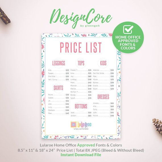 photo about Lularoe Price List Printable named Charge Listing, Value Chart, Printable, Dwelling Office environment Authorised