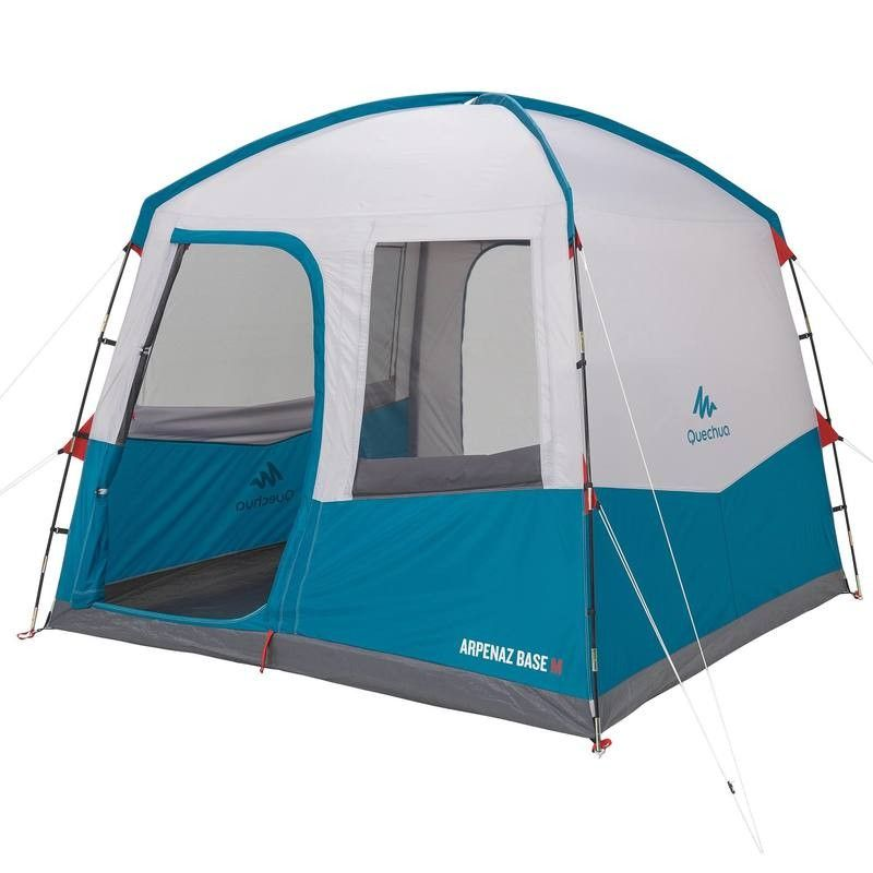 Aufenthaltszelt Stangenzelt Arpenaz Base Grosse M Camping Shelters Tent Camping Table