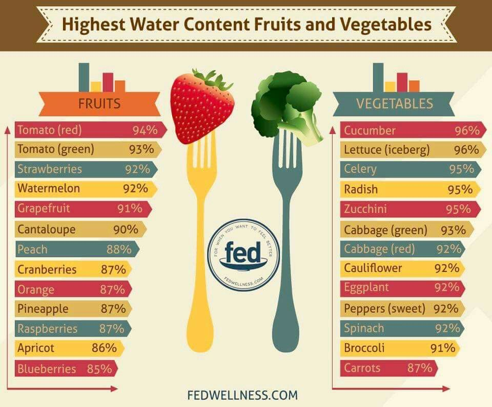 fruit vegetables and water diet