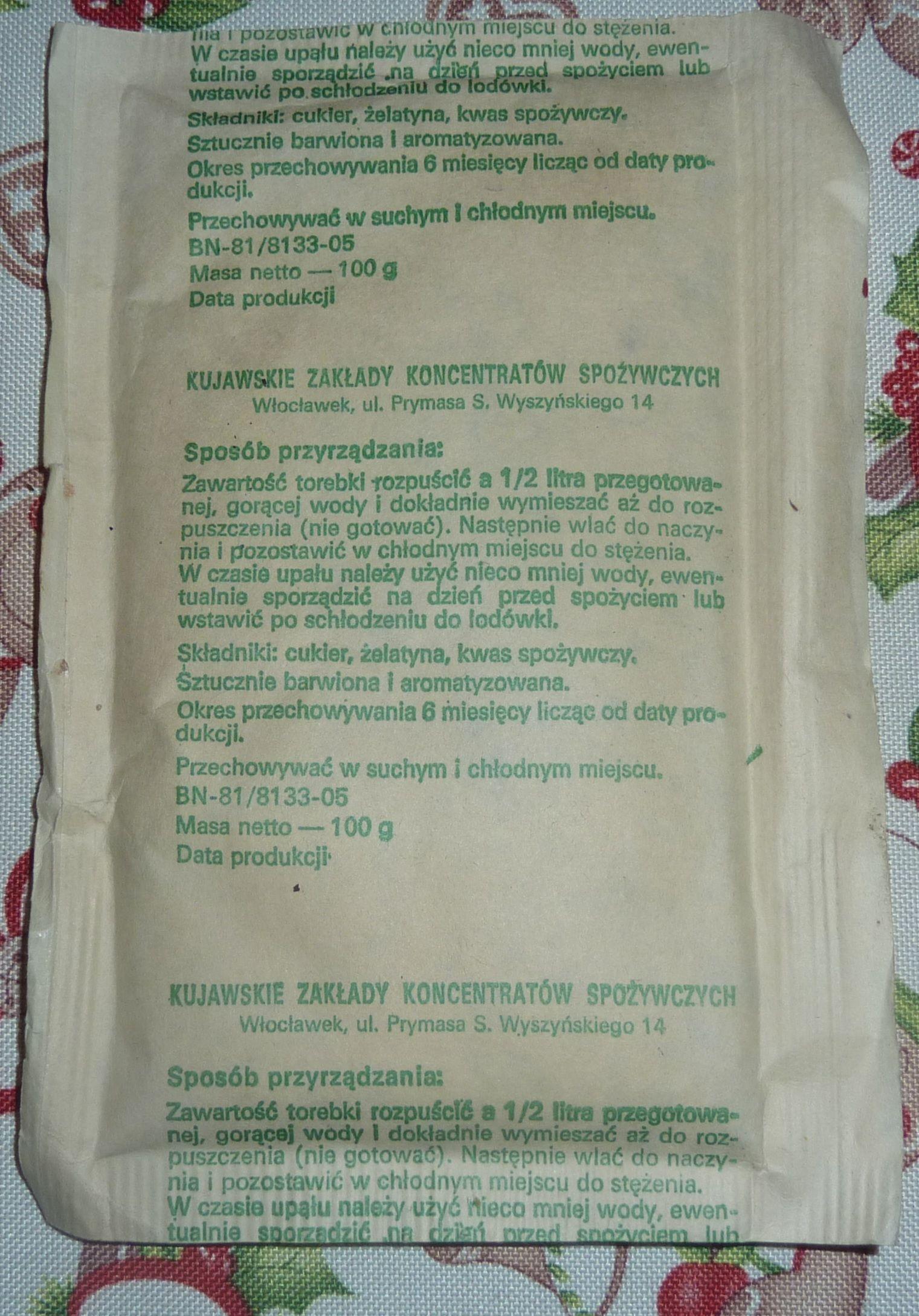 Prl Galaretka Owocowa Cytrynowa Z 1988 Roku Kujawy 6958212667 Oficjalne Archiwum Allegro Personalized Items