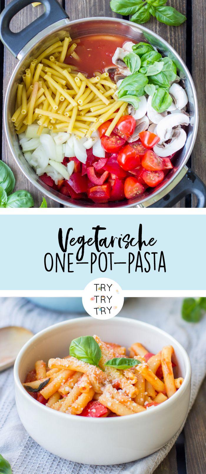 Vegetarische One-Pot-Pasta #vegetarischerezepteschnell
