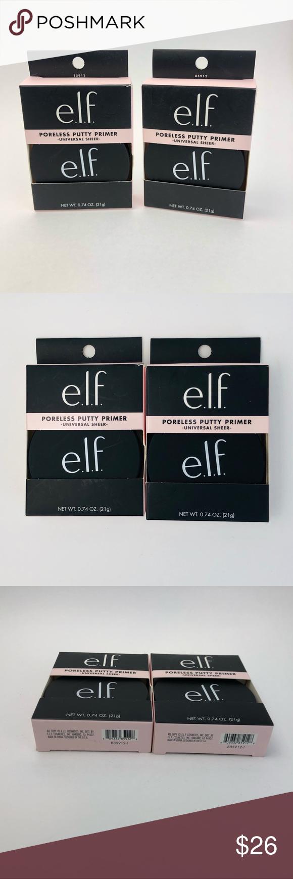 2 E.L.F. Poreless Putty Primer NWT Elf makeup, Primer