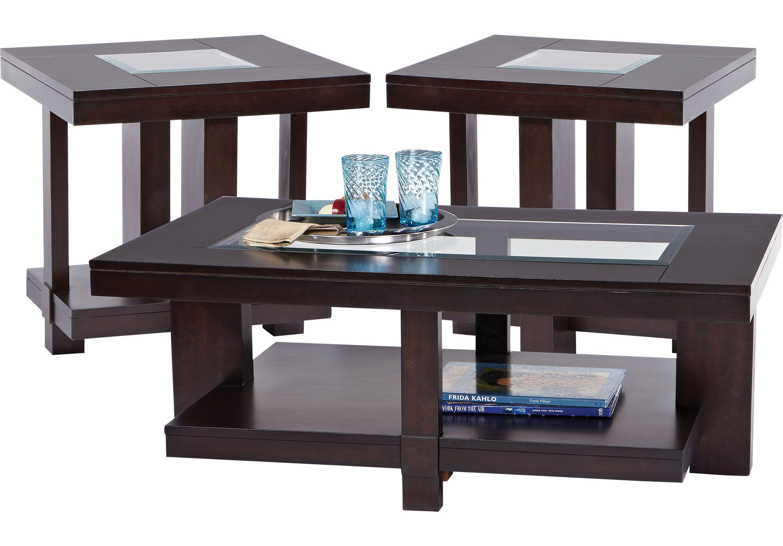 Prime Lochlin Walnut 3 Pc Table Set Table Cheap Furniture Spiritservingveterans Wood Chair Design Ideas Spiritservingveteransorg