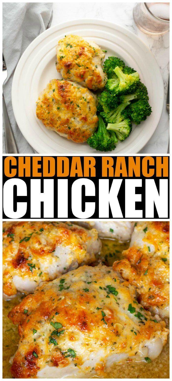 Cheddar Ranch Chicken Thighs • MidgetMomma
