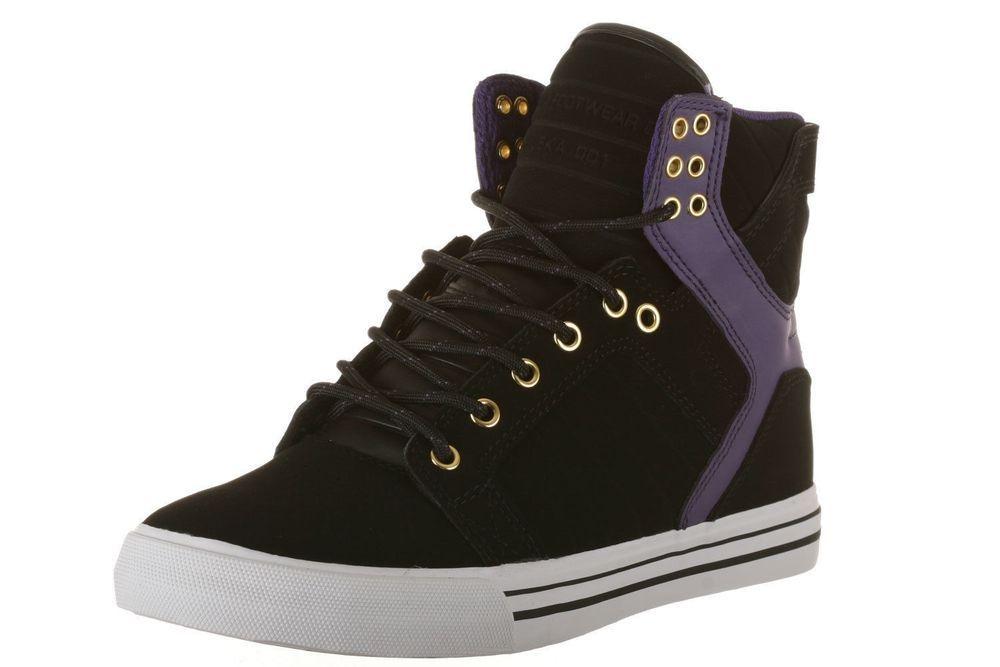 52662d12aef6b Supra Skytop Sneaker Shoes Mens size 11.5 M Black Purple Gold - White New  in Box  SUPRA  Skateboarding