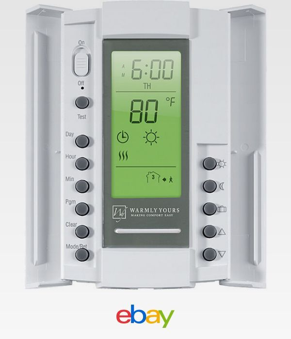 Smartstat White Dual Voltage 120 240 Volt Thermostat With Floor Sensor Floor Heating Thermostat Floor Heating Systems Programmable Thermostat