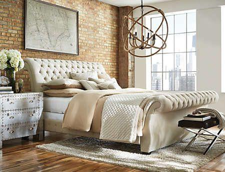 Best Bombay Linen King Bed Art Van Furniture King Upholstered Bed Upholstered Beds Furniture 640 x 480