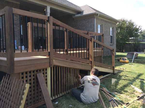 Ramp to deck nice house ramps don 39 t have to look for Handicap stairs plans