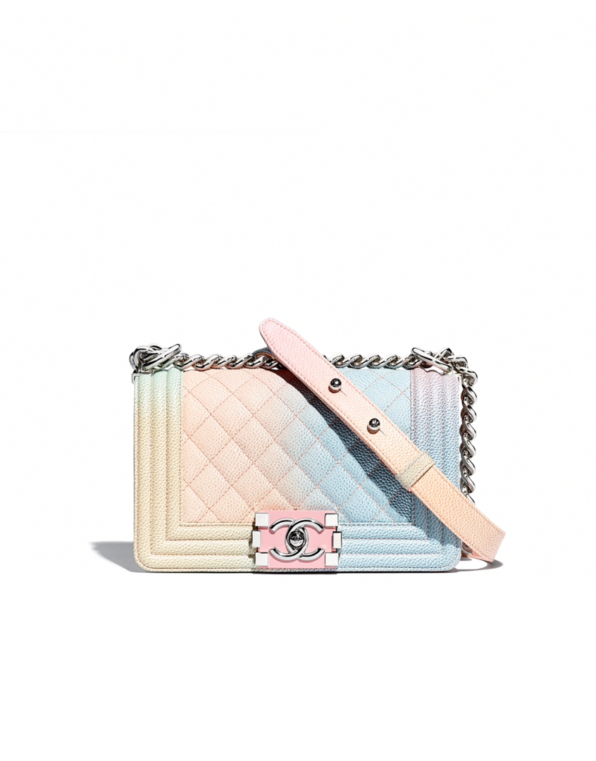 96ee8bc7f87f Rainbow Chanel Boy Bags are Back for Pre-Collection Spring 2018 ...