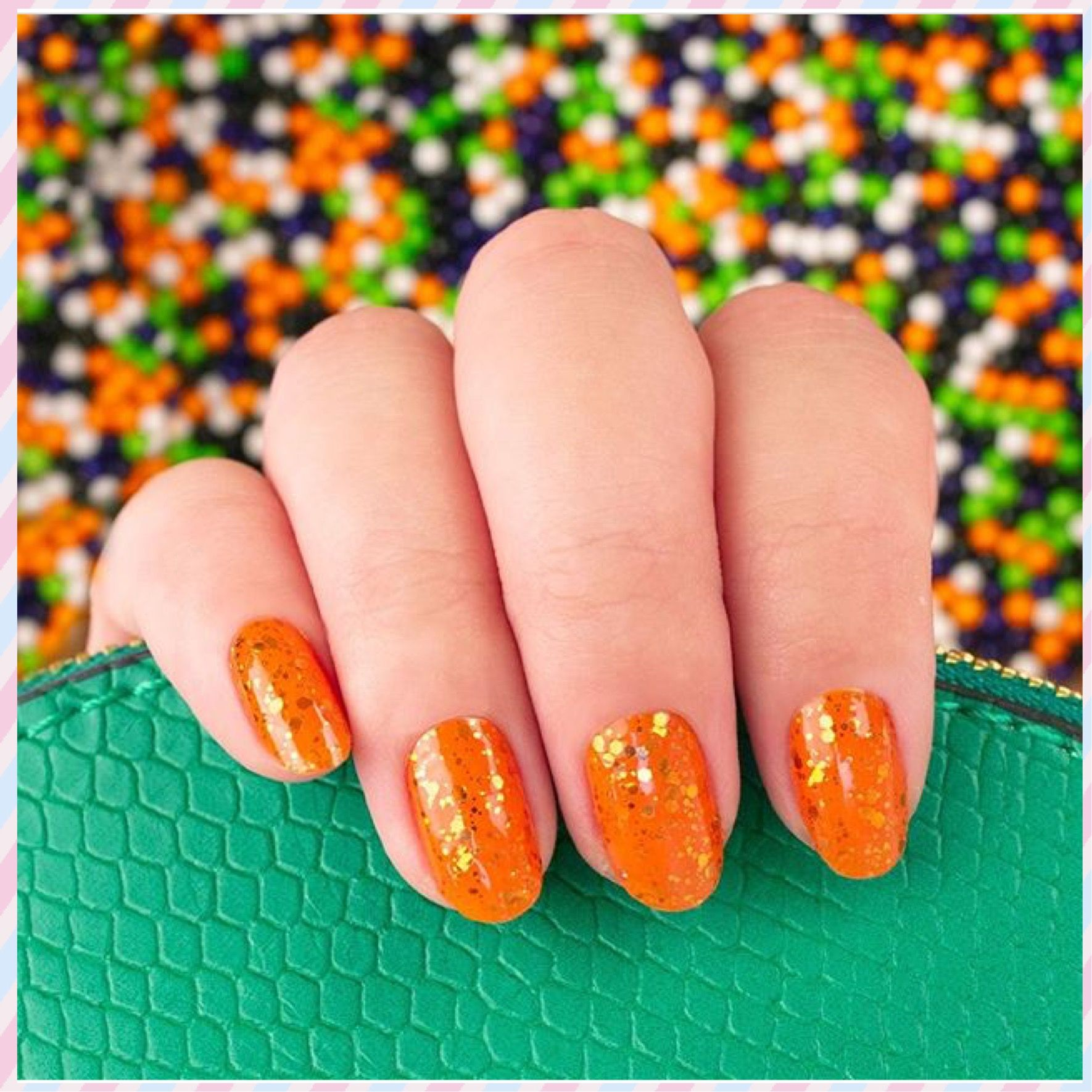 Color Street Halloween Nails Orange You Scared Halloween Nails Color Street Nails Color Street