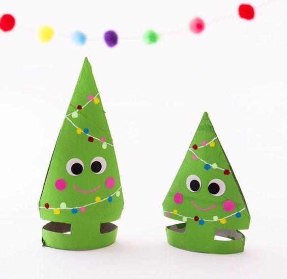 klorollen tannenb ume weihnachten christmas diy. Black Bedroom Furniture Sets. Home Design Ideas