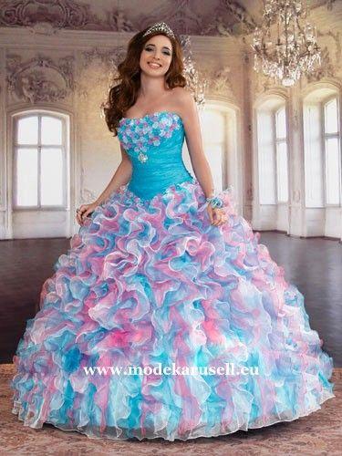 Mehrfarbiges Ballkleid Brautkleid oder Abendkleid (mit ...