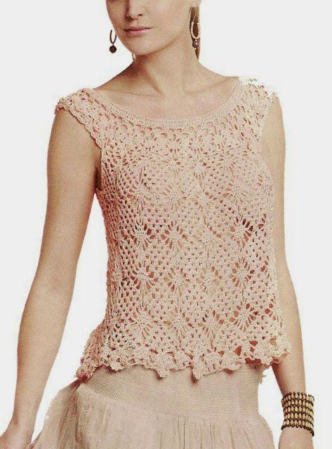 Chaquetas tejidas a crochet diagramas