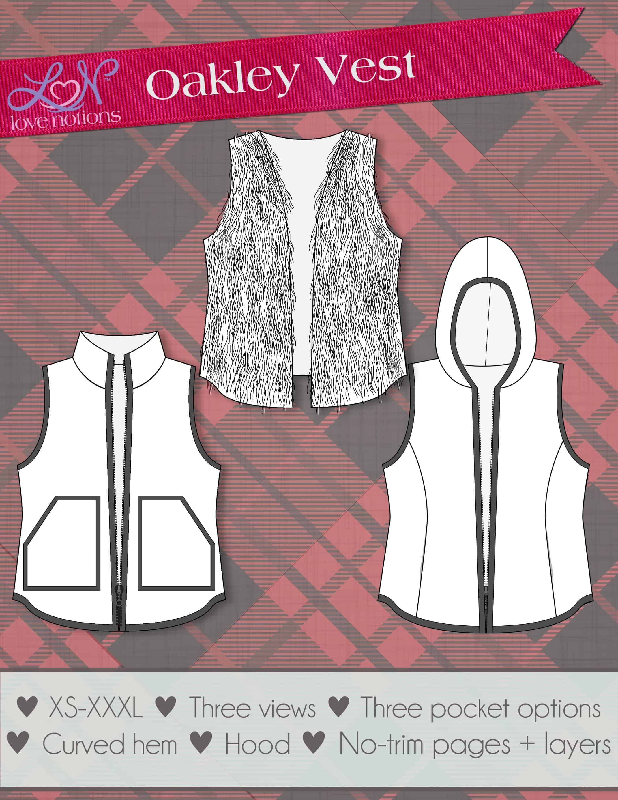 photograph about Printable Vest Pattern named Zippered vest sewing practice as a result of Delight in Notions. Woven Sewing