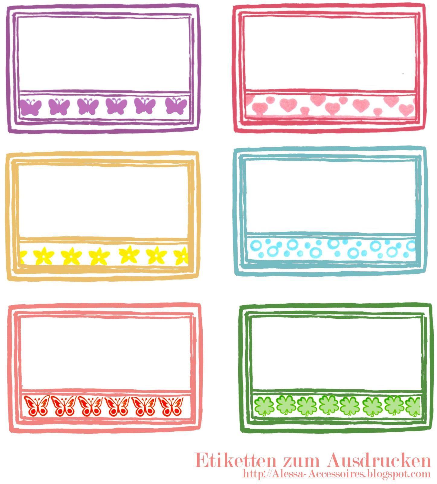 freebie] Etiketten zum Ausdrucken | Etiketten | Pinterest