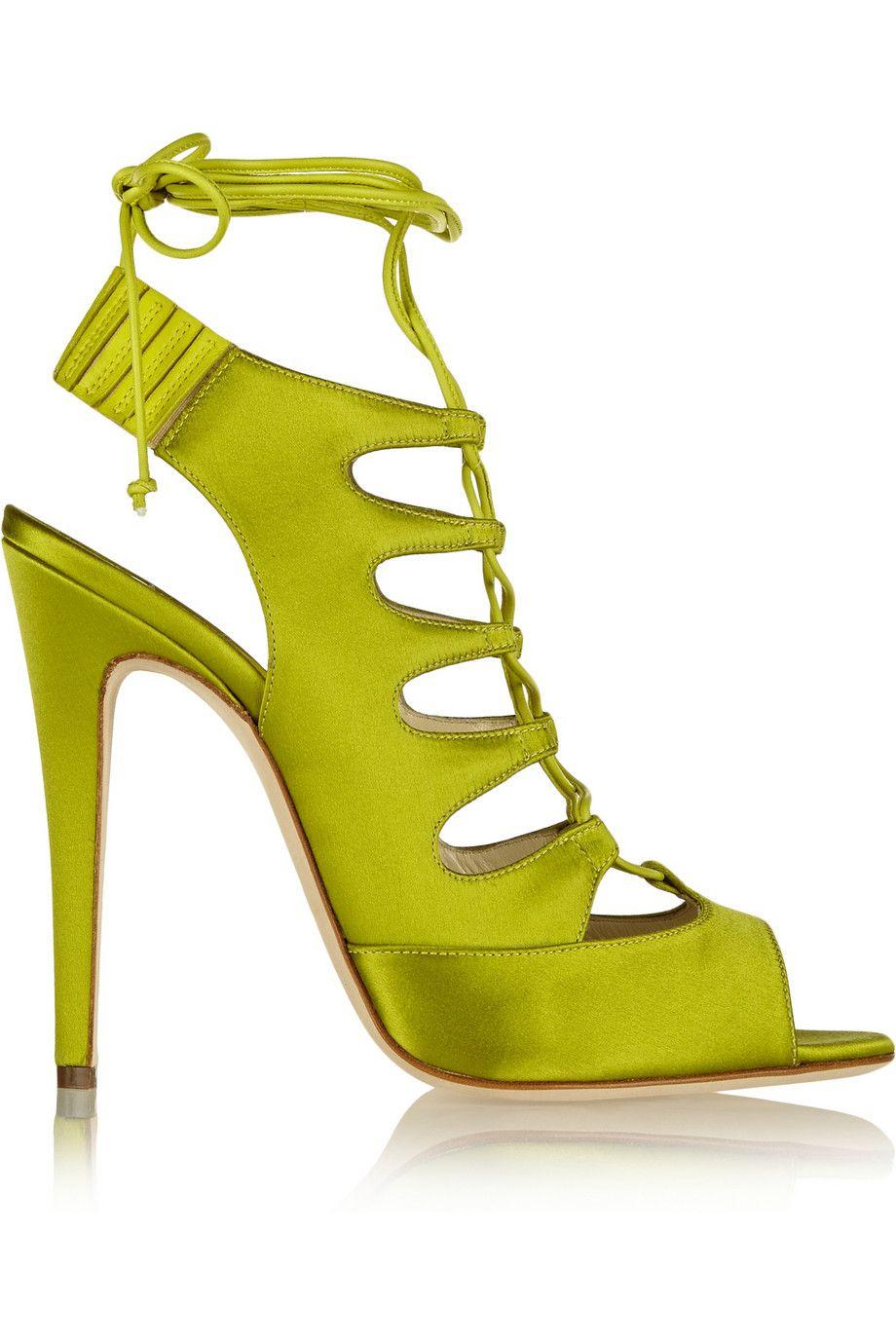 Zapatos Tacon Verde Lima