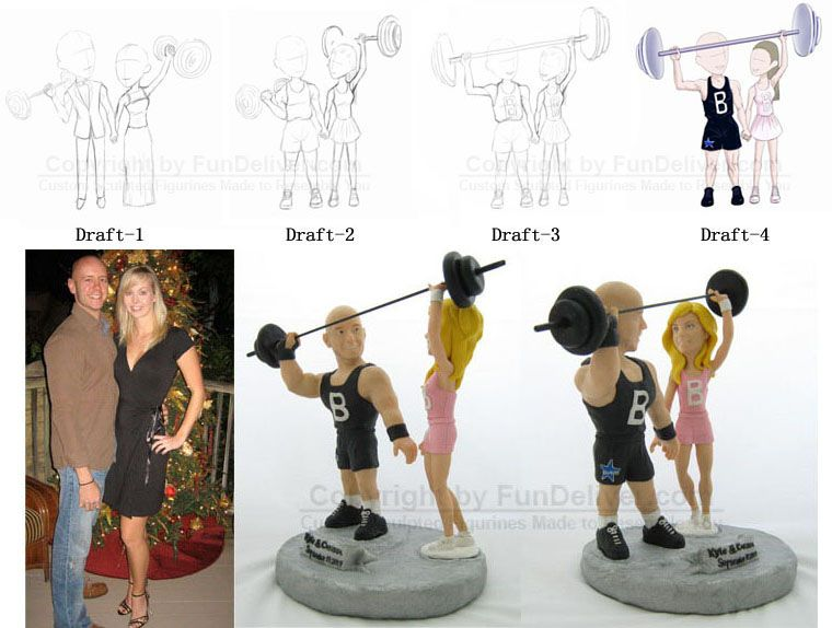 fitness themed wedding cake topper fitness trainer cake toppers personal trainer cake tops 14303