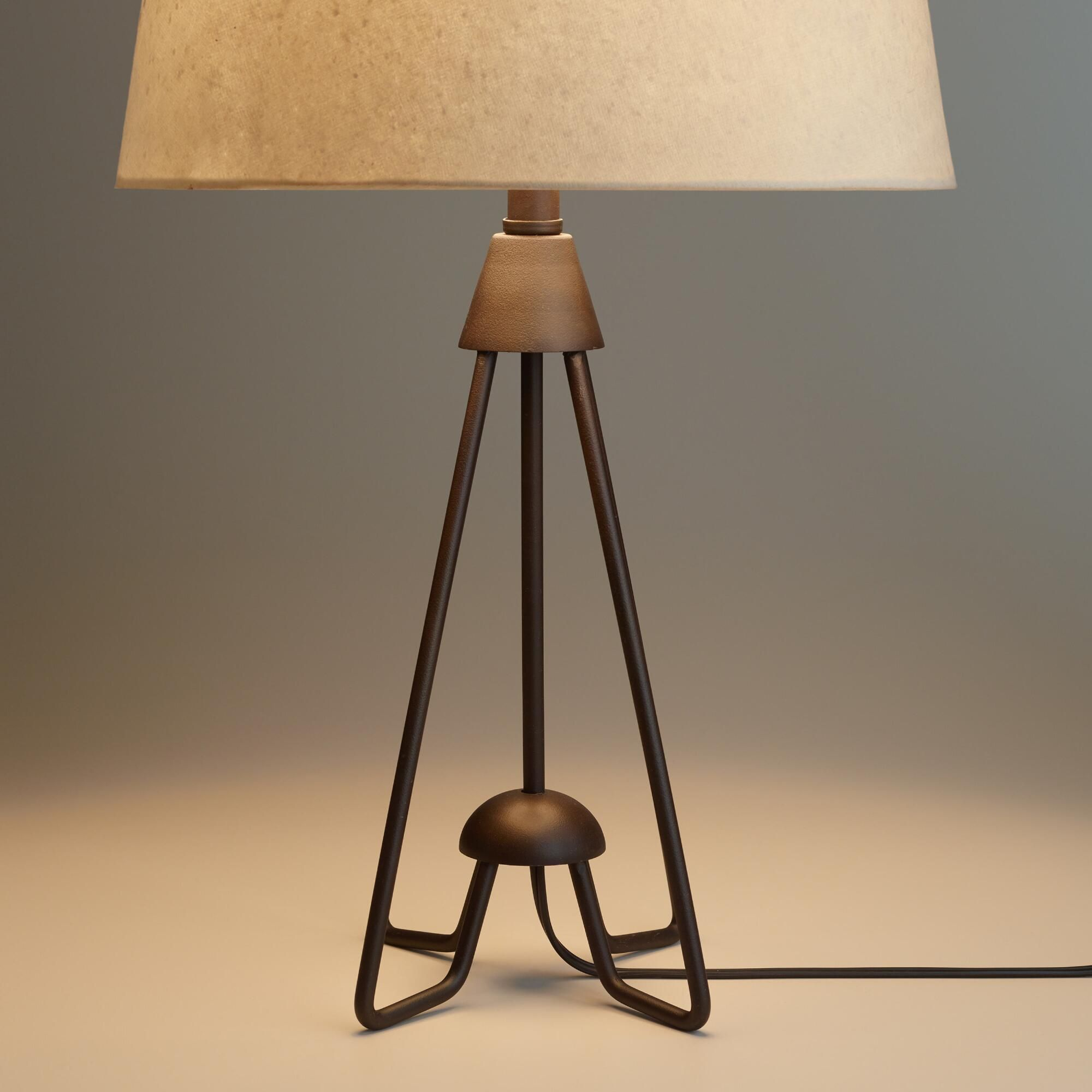 Bronze and silver table lamp ambience accent lamp table lamps lamps - Crafted Of Iron With A Black Finish And An Open Design Our Exclusive Table Lamp
