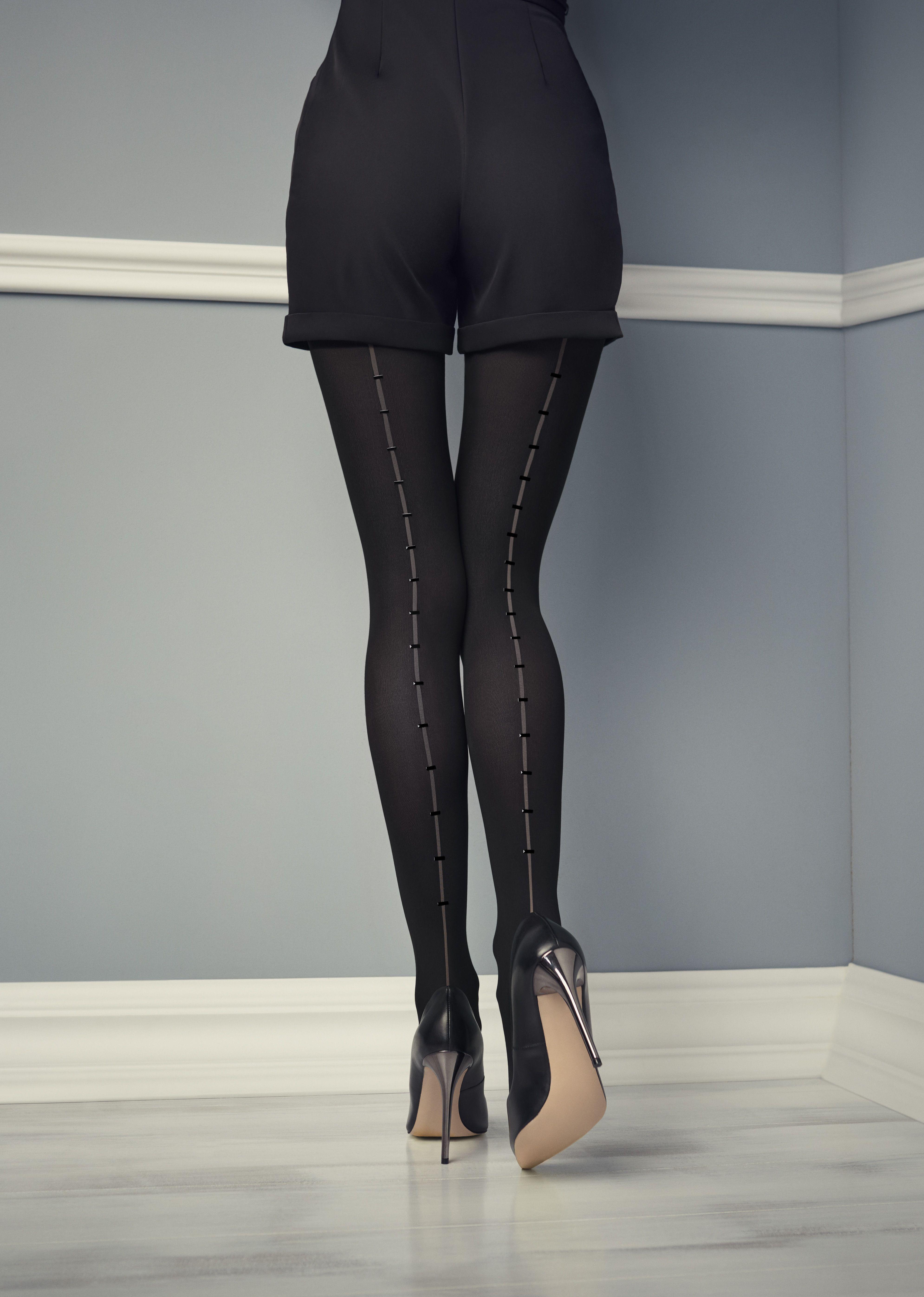 Black Retro style without elastic pure nylon fun slim flash stockings 0911