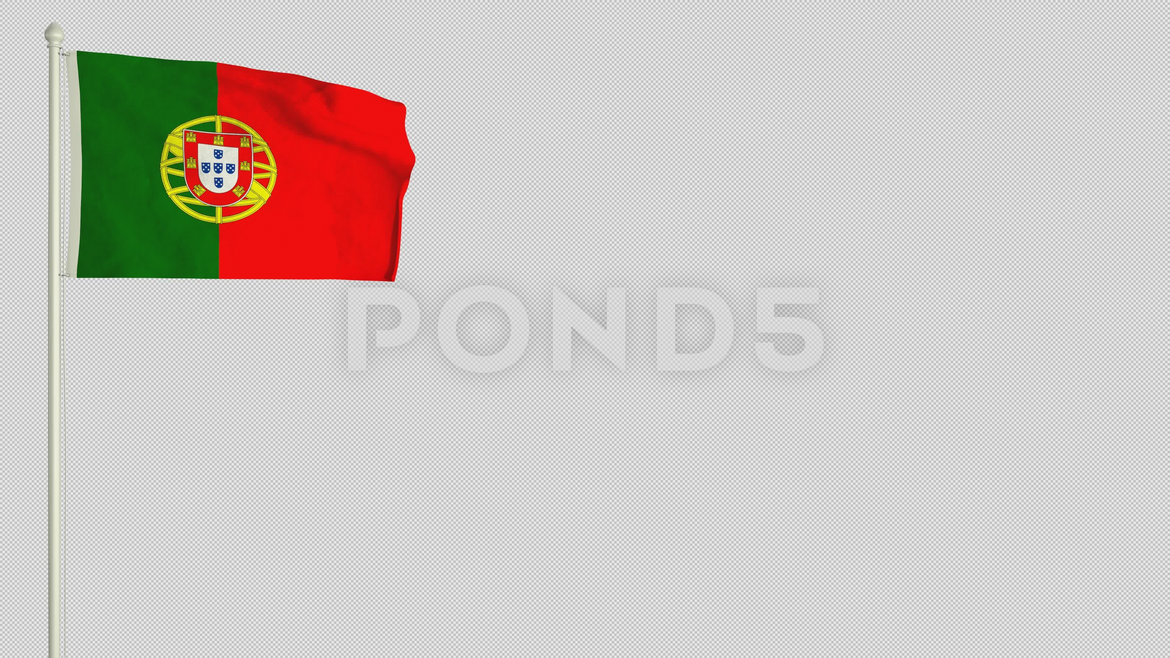 Portuguese Flag Waving In The Wind With Png Alpha Channel Stock Footage Ad Waving Wind Portuguese Flag Portuguese Flag Portuguese Flag