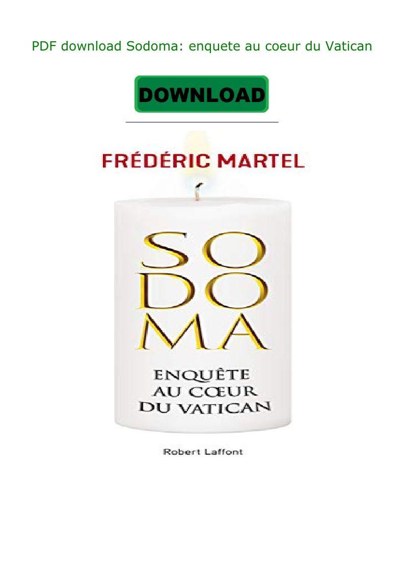 Pdf Download Sodoma Enquete Au Coeur Du Vatican Download Books Pdf Download Download