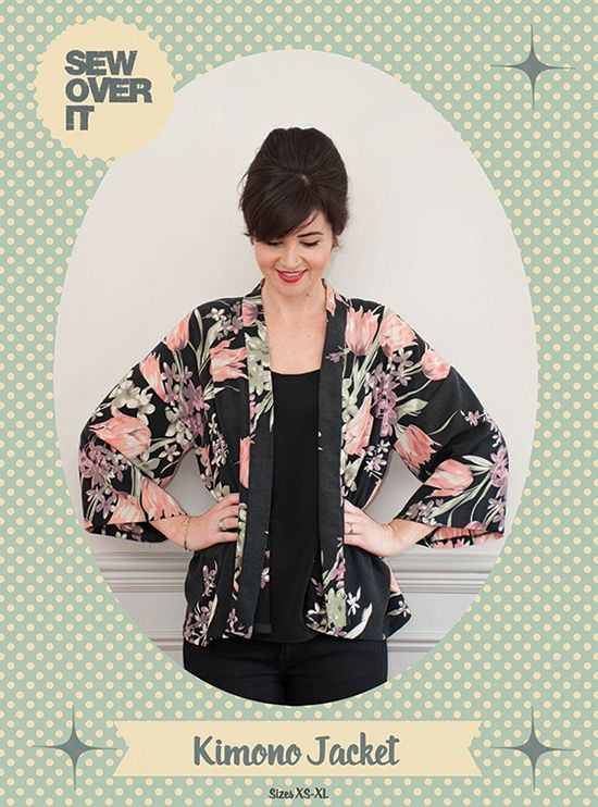 New Pattern Alert! Sew Yourself a Kimono for Spring! (SewOverIt ...