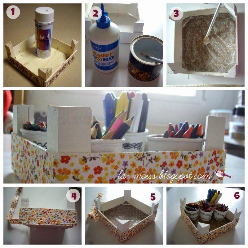 Reciclar una caja de fresas cajas de fresas - Cajas almacenaje decorativas ...