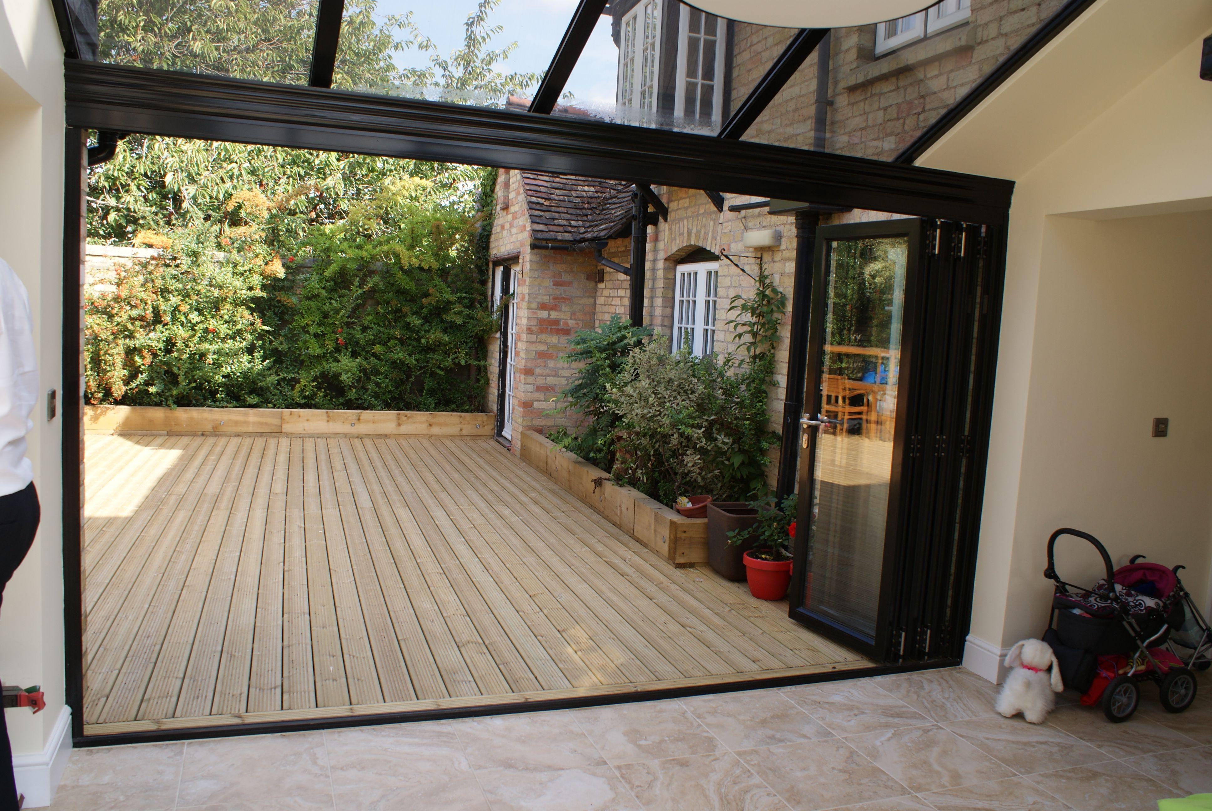 A four panel Sunflex SF75 bifold door system closed. | Bifold Door Gallery | Pinterest | Doors & A four panel Sunflex SF75 bifold door system closed. | Bifold Door ... pezcame.com