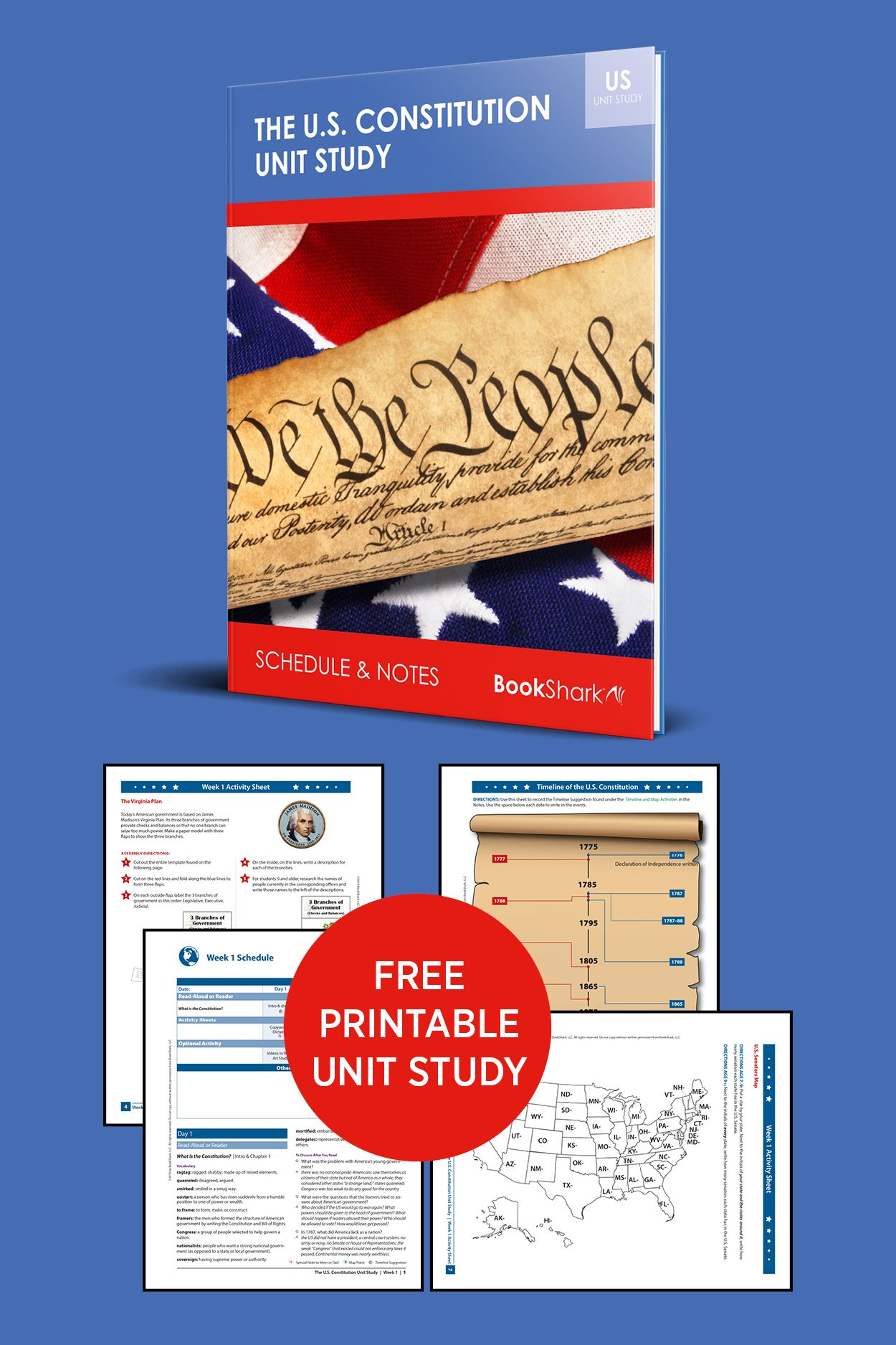hight resolution of American Constitution: Free Unit Study   American constitution