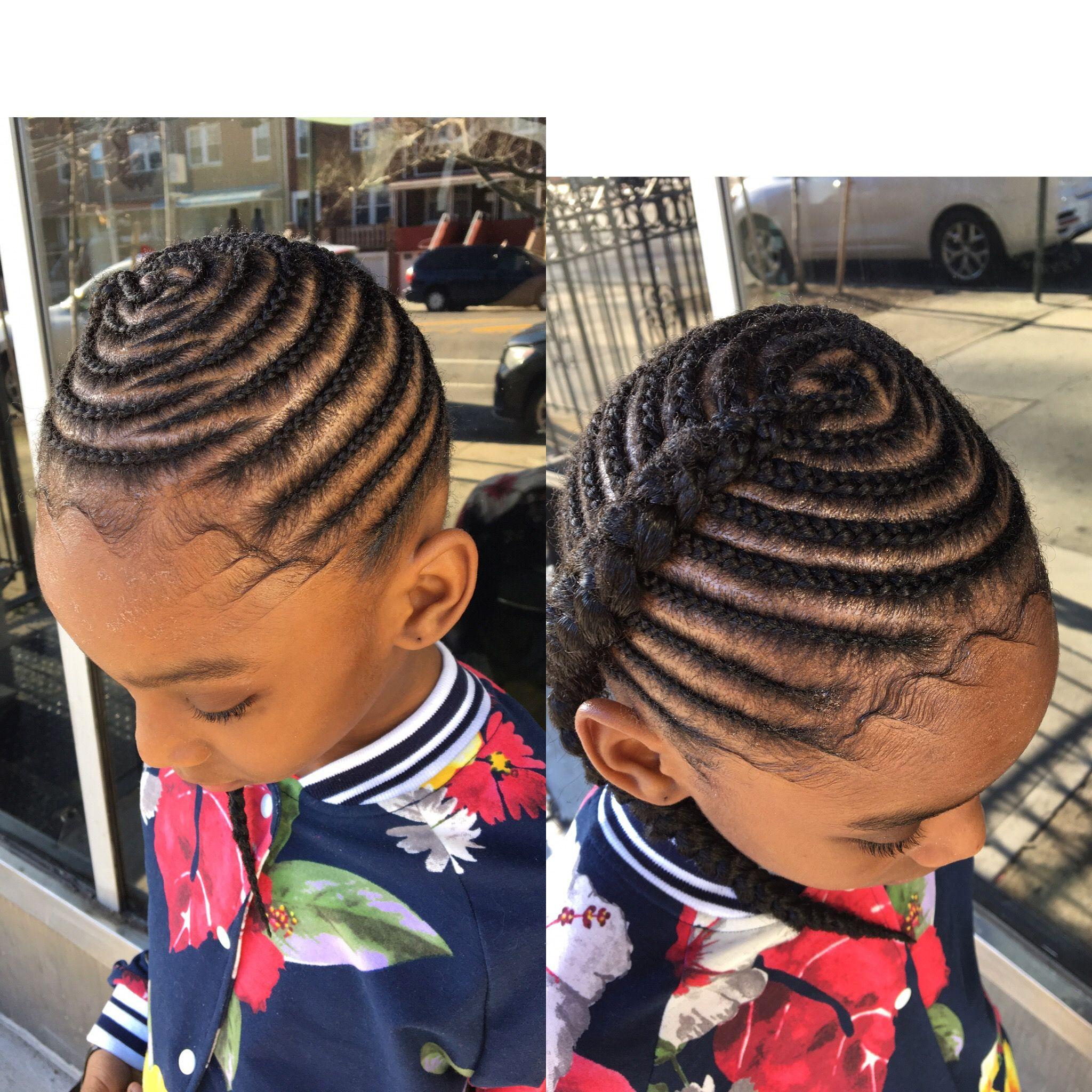 Braids with extensions design lyfestylzsalon little girls