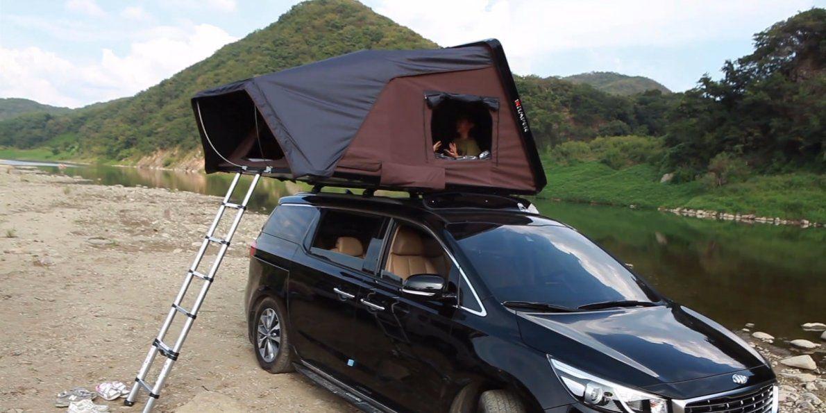 This cargo bin transforms into a massive tent on top of your car & This cargo bin transforms into a massive tent on top of your car ...