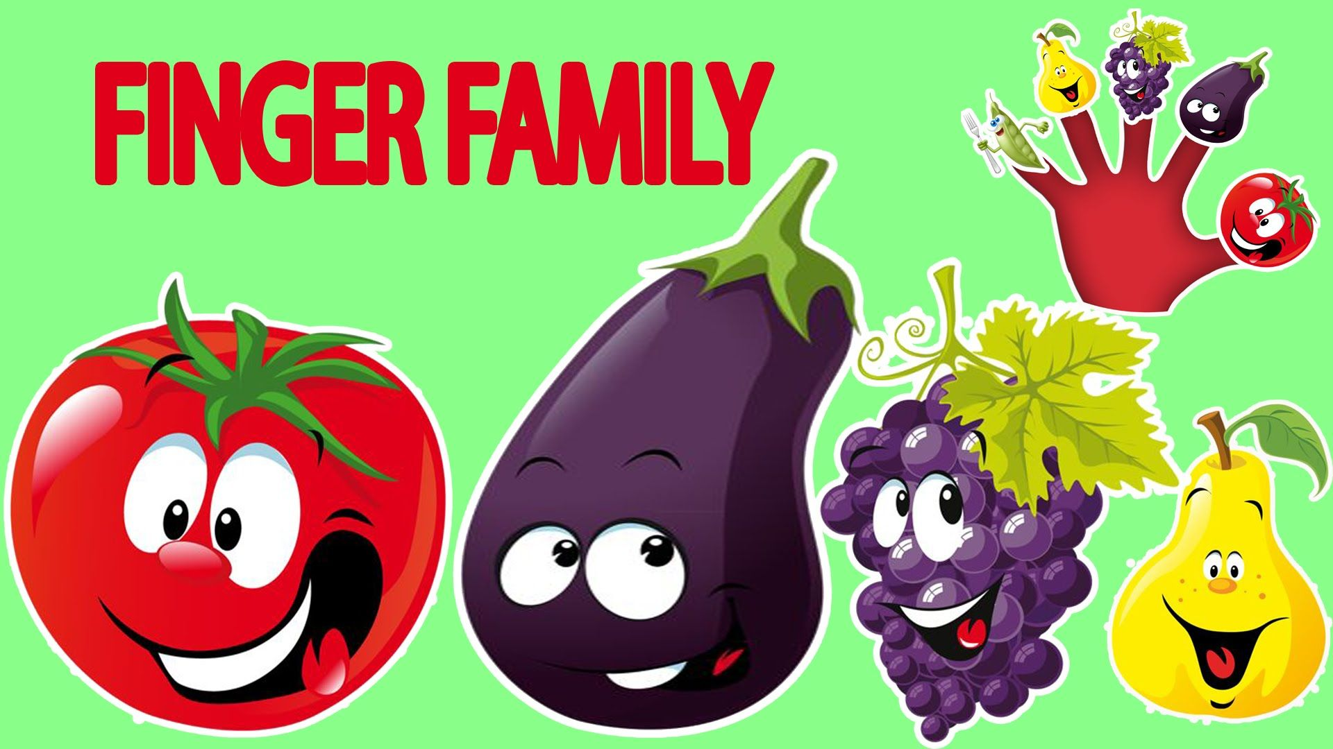 Vegetables And Fruits Finger Family Nursery Rhymes Lyrics