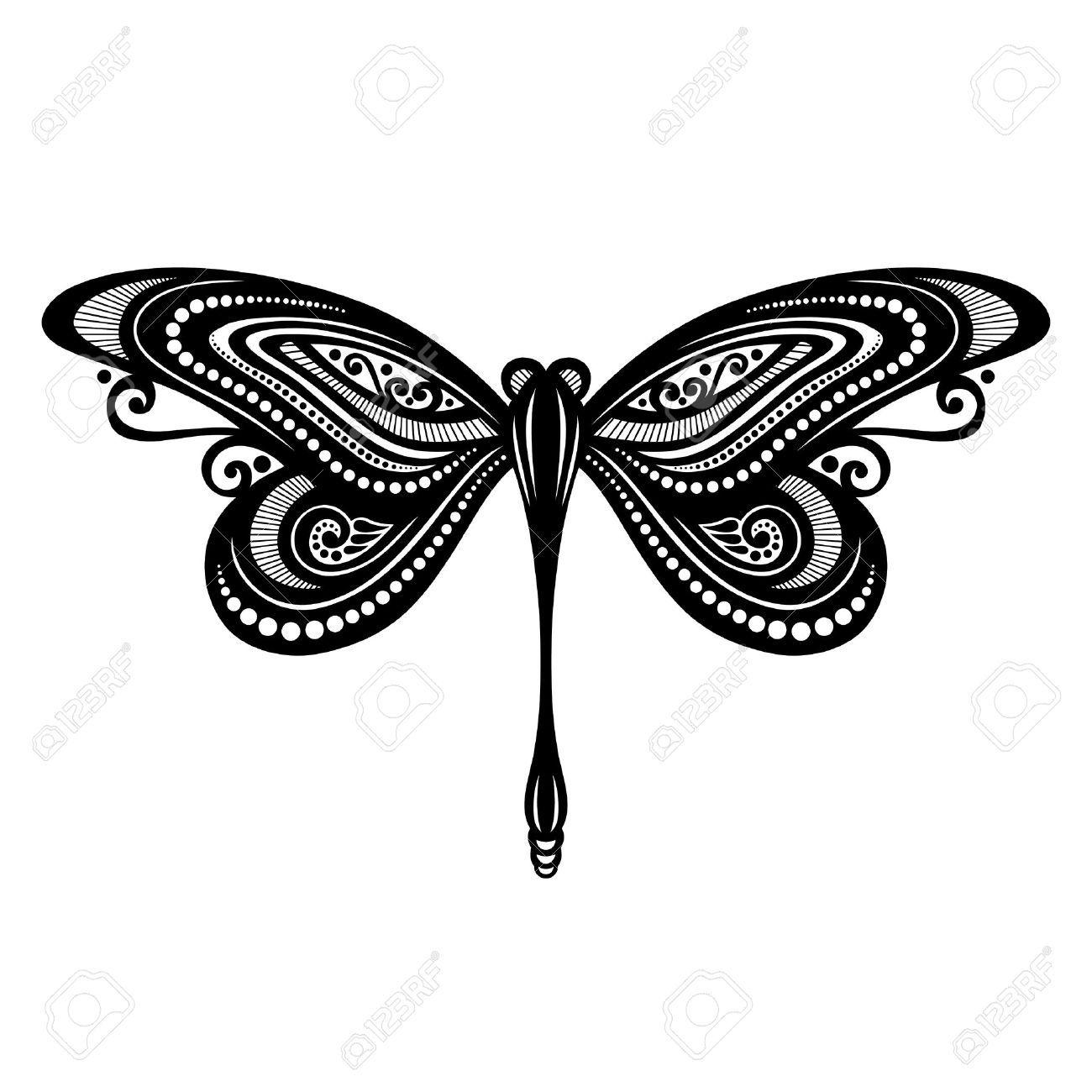Resultado de imagen para libelulas blanco y negro vector | Diseños ...
