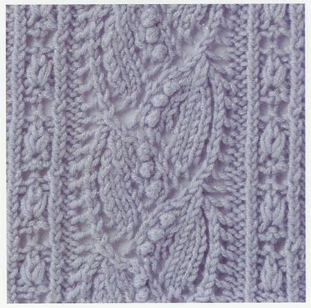 Free chart Lace Knitting Stitch #45 | Lace Knitting Stitches