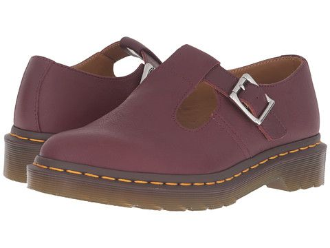 Dr martens polley t bar mary jane cherry virginia, Red