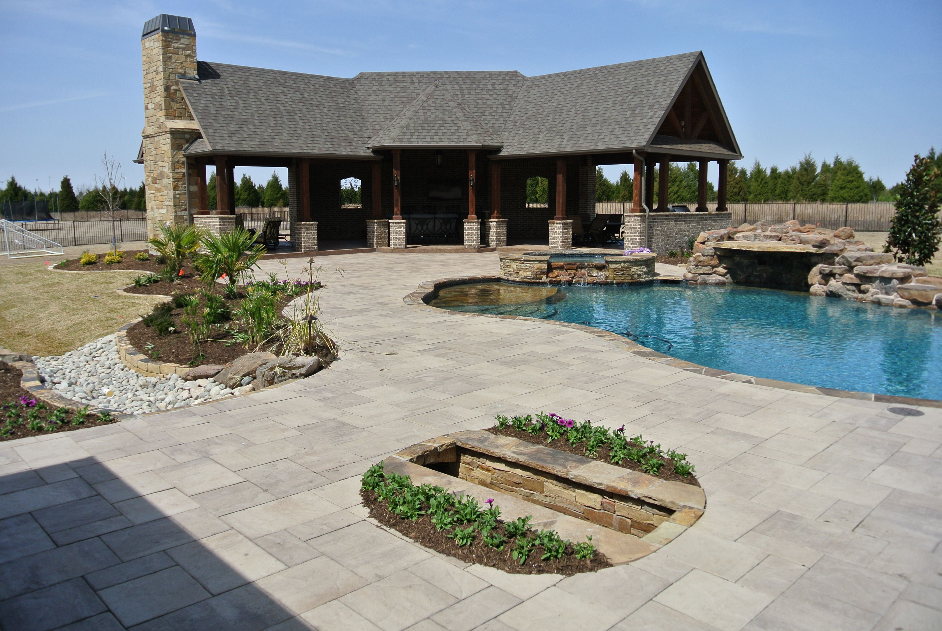 Outdoor Living Area and Pool Installation by Graves Lawn ... on Retreat Outdoor Living id=21205