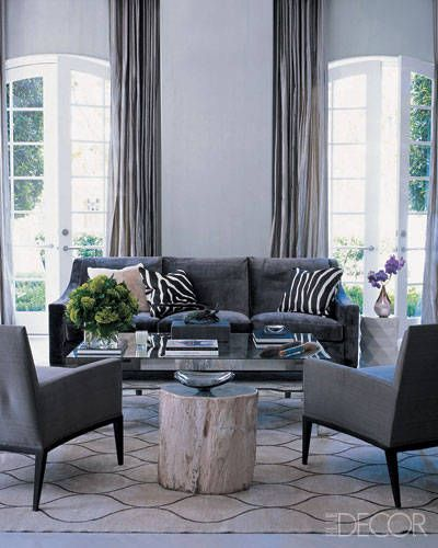 Rhapsody in Gray Elle decor Cotton mats and Living rooms