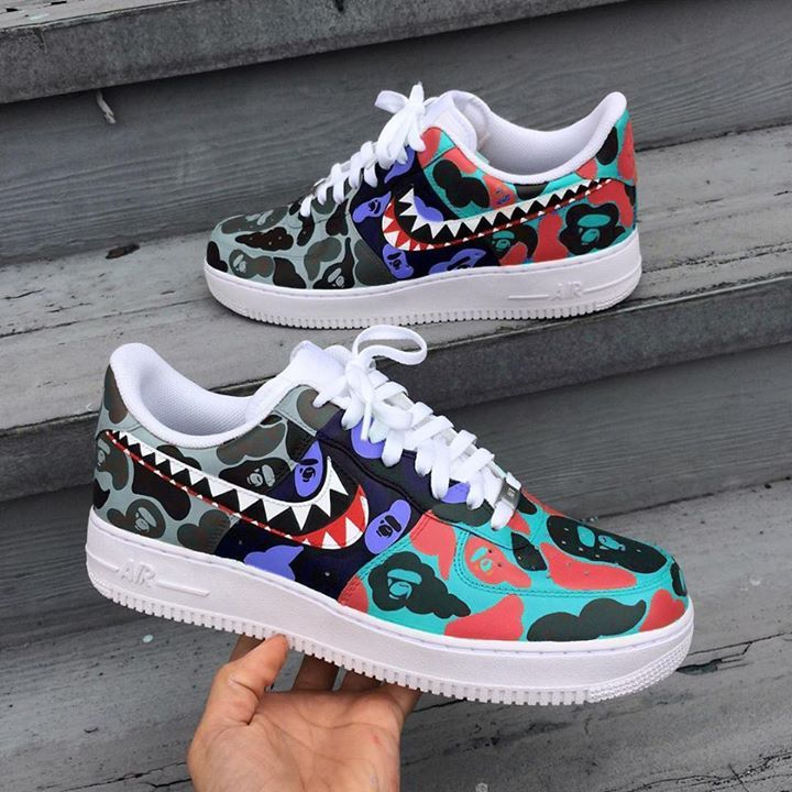 Nike Air Force  Low Bape Customs