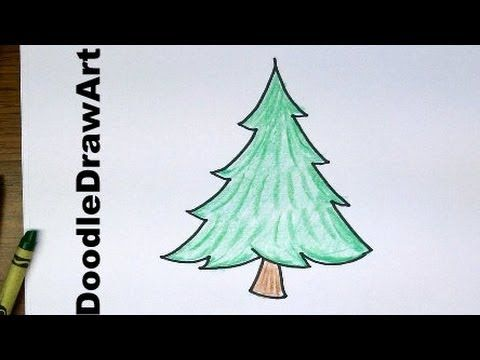 Drawing How To Draw Cartoon Pine Trees Easy To Draw For Beginners And For Kids Pine Tree Drawing Drawing For Beginners Tree Drawing