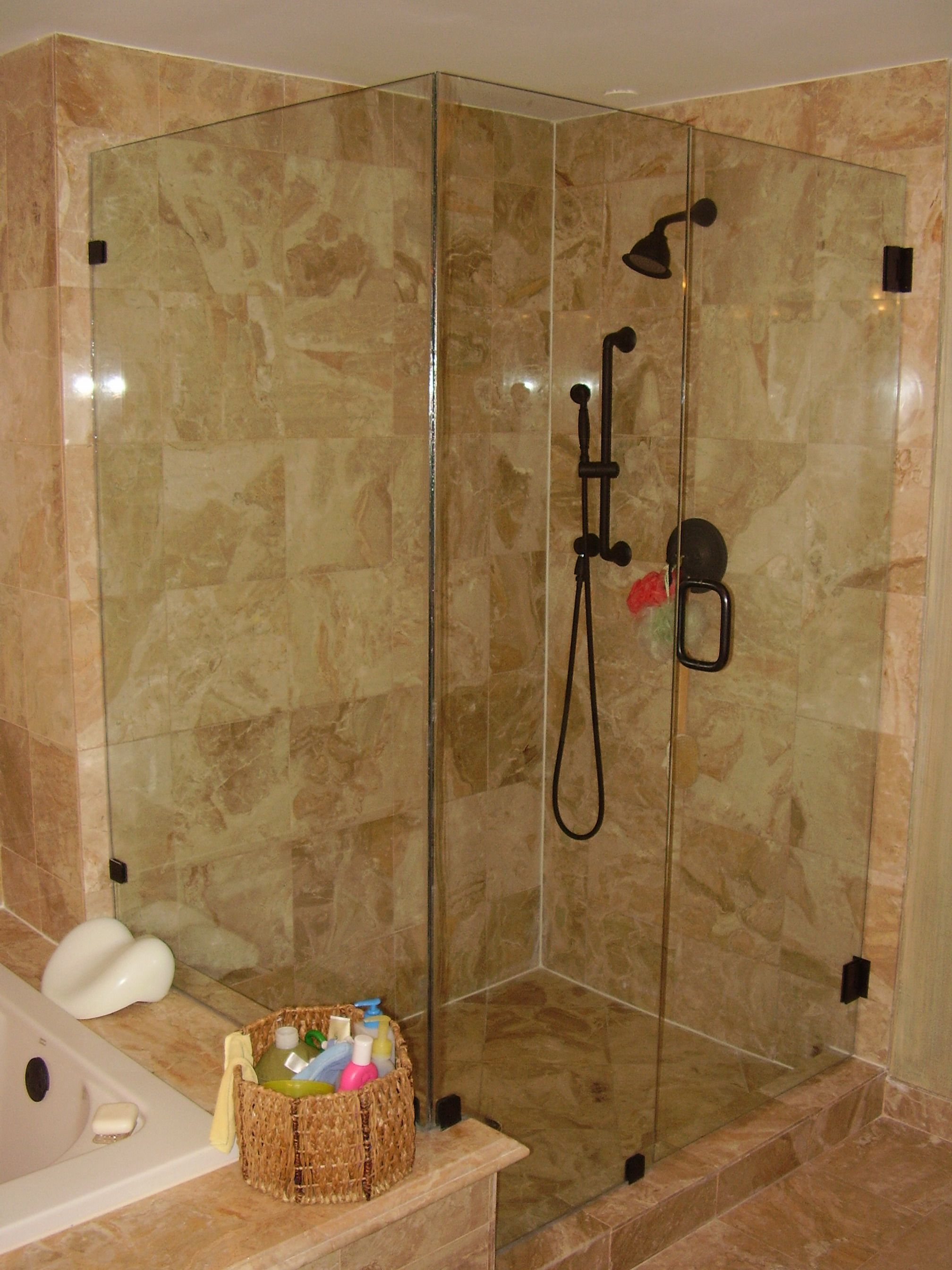 Bathrooms with glass showers