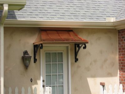 Copper Awnings, Metal Awnings, Standing Seam Awnings, WeldDoneDesign
