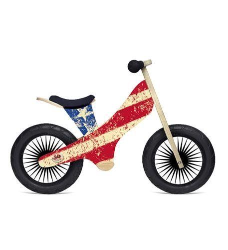 Kids Balance Bikes Kinderfeets Retro Wooden Balance Bike Usa Flag Learn More By Visiting The With Images Wooden Balance Bike Balance Bike Balance Bicycle