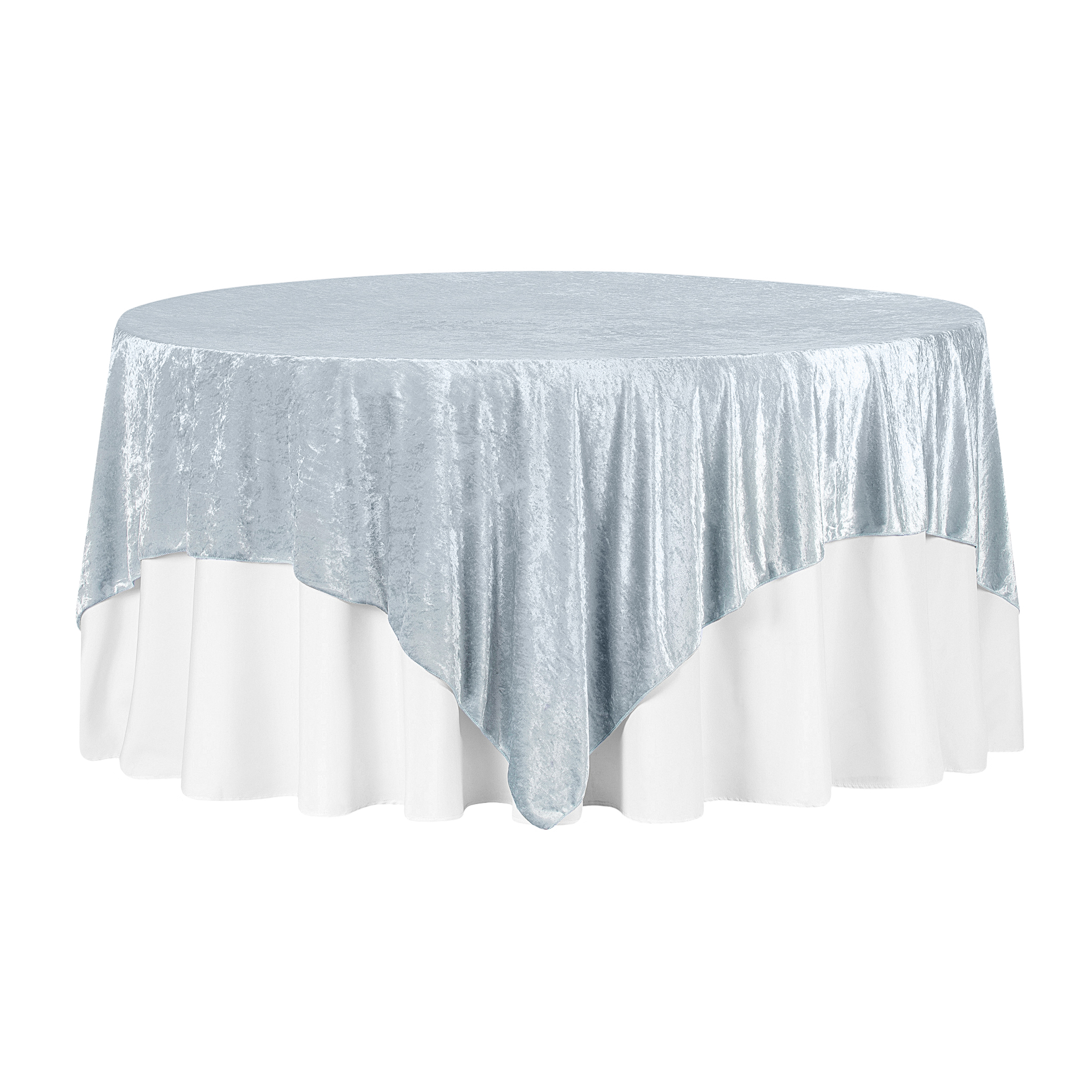 """Velvet 85""""x85"""" Square Tablecloth Table Overlay Dusty"""