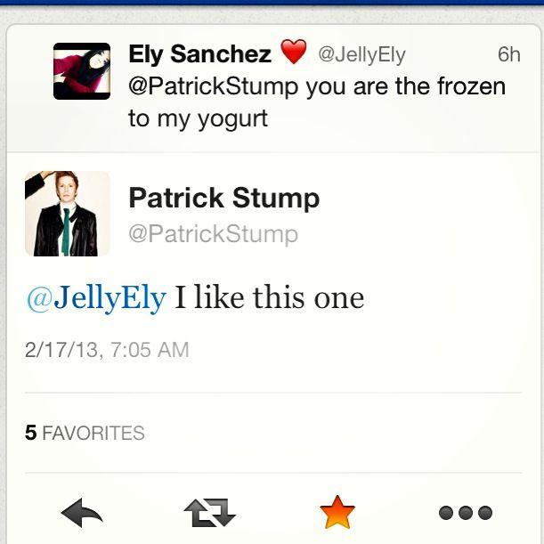 My collection of Patrick Stump's tweet backs <3