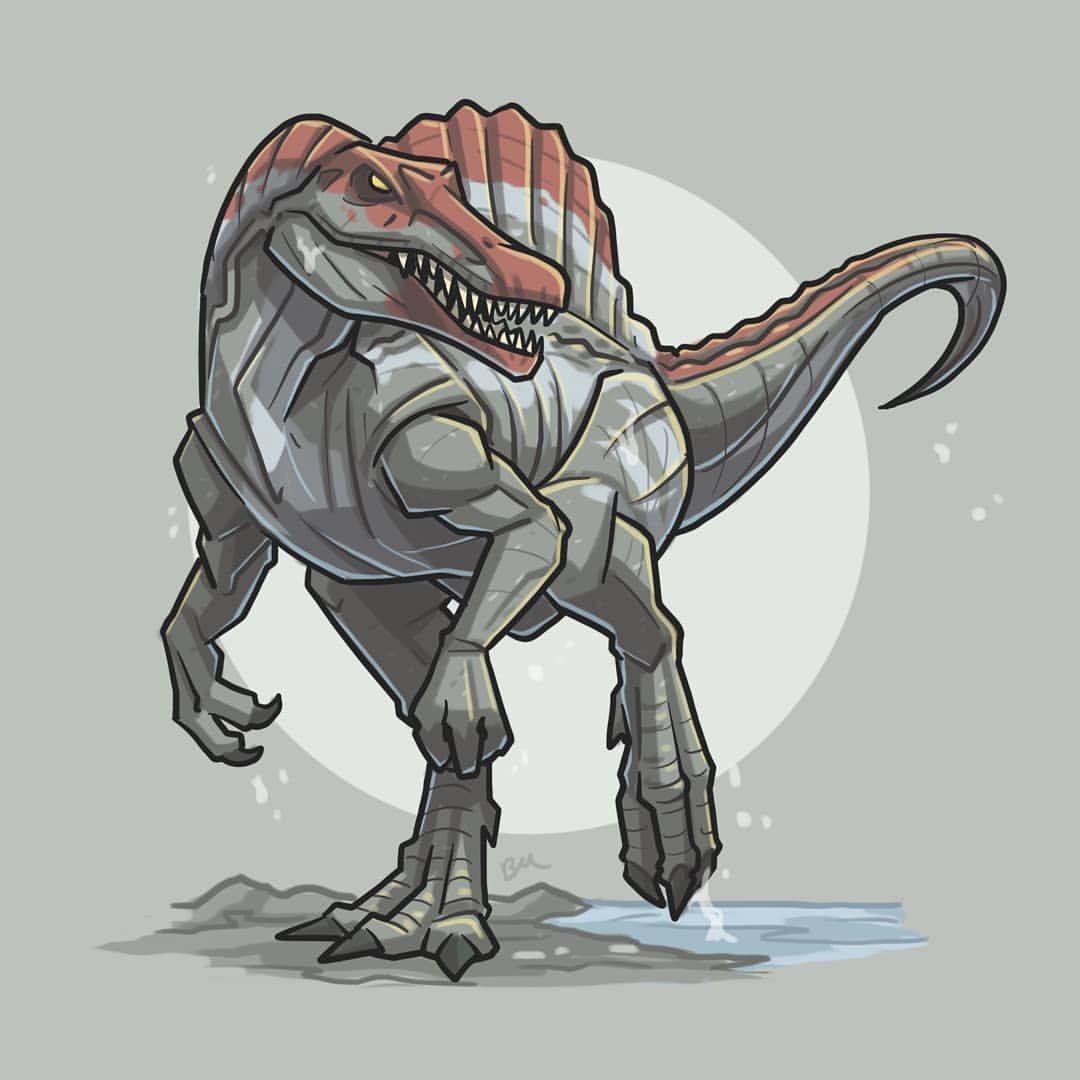 It S Day Eight Of Jurassicjune Today I Ve Illustrated: Pin Van Mano_MFK Op Jurassic