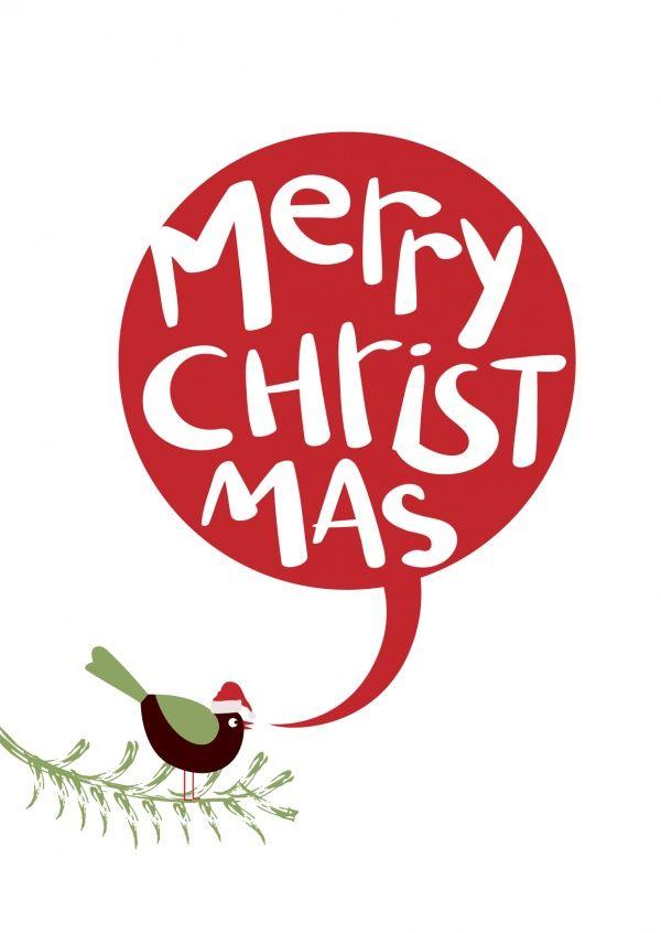 vogelchen wunscht merry christmas weihnachtskarten echte postkarten online versenden mypostcard com
