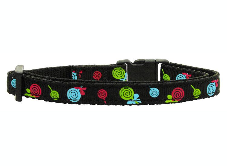 Cat Safety Collar - Lollipops Nylon Ribbon Cat Collar (3 Colors)